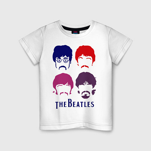 Детская футболка The Beatles faces / Белый – фото 1