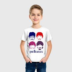 Футболка хлопковая детская The Beatles faces цвета белый — фото 2