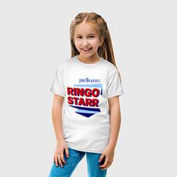 Футболка хлопковая детская Ringo Starr: The Beatles цвета белый — фото 2