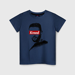 Футболка хлопковая детская Kreed Supreme цвета тёмно-синий — фото 1