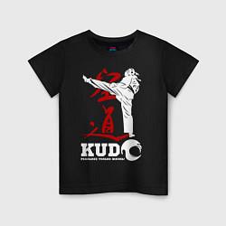 Футболка хлопковая детская Kudo цвета черный — фото 1