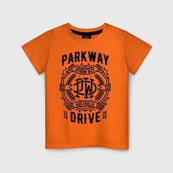 Футболка хлопковая детская Parkway Drive: Australia цвета оранжевый — фото 1