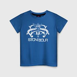 Футболка хлопковая детская Stone Sour цвета синий — фото 1