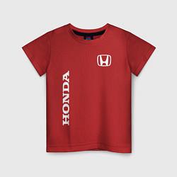 Футболка хлопковая детская HONDA цвета красный — фото 1