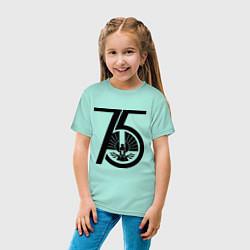 Футболка хлопковая детская The Hunger Games 75 цвета мятный — фото 2