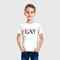 Футболка хлопковая детская Jony Аллея цвета белый — фото 2