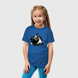 Футболка хлопковая детская Batman цвета синий — фото 2