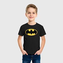 Футболка хлопковая детская Batman цвета черный — фото 2