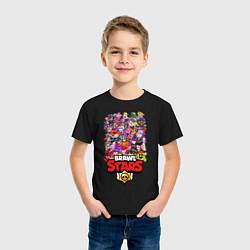 Футболка хлопковая детская BRAWL STARS ВСЕ БРАВЛЫ БРАВЛ СТАРС цвета черный — фото 2