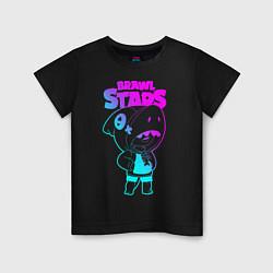 Футболка хлопковая детская Brawl Stars LEON цвета черный — фото 1