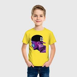 Футболка хлопковая детская ATL цвета желтый — фото 2