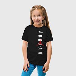 Футболка хлопковая детская Air Jordan цвета черный — фото 2