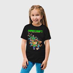 Футболка хлопковая детская Minecraft цвета черный — фото 2