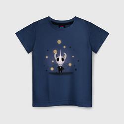 Футболка хлопковая детская Hollow knight Полый рыцарь цвета тёмно-синий — фото 1