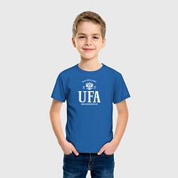 Футболка хлопковая детская Уфа Born in Russia цвета синий — фото 2