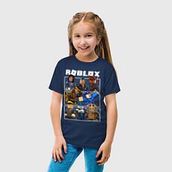 Футболка хлопковая детская ROBLOX цвета тёмно-синий — фото 2