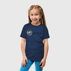 Футболка хлопковая детская Buick цвета тёмно-синий — фото 2