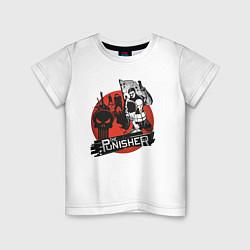 Футболка хлопковая детская The Punisher цвета белый — фото 1
