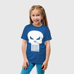 Футболка хлопковая детская The Punisher Череп цвета синий — фото 2