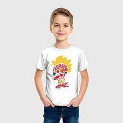 Футболка хлопковая детская Капитан Марвел цвета белый — фото 2