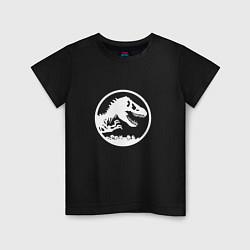 Футболка хлопковая детская Jurassic World цвета черный — фото 1