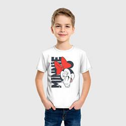 Футболка хлопковая детская Минни цвета белый — фото 2