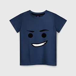 Футболка хлопковая детская Emmet цвета тёмно-синий — фото 1