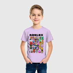 Футболка хлопковая детская ROBLOX PIGGY цвета лаванда — фото 2