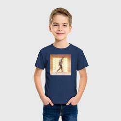 Футболка хлопковая детская Jony: Комета цвета тёмно-синий — фото 2