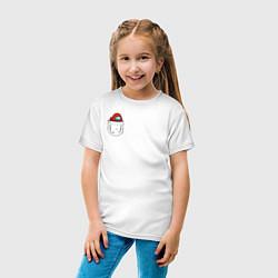 Футболка хлопковая детская Among us цвета белый — фото 2