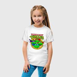 Футболка хлопковая детская Ninja Turtles цвета белый — фото 2