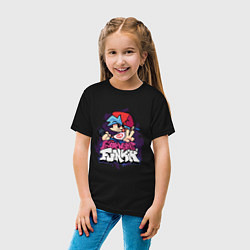 Футболка хлопковая детская Friday Night Funkin цвета черный — фото 2