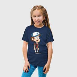 Футболка хлопковая детская Неугомонный Диппер цвета тёмно-синий — фото 2