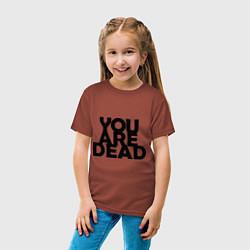 Футболка хлопковая детская DayZ: You are Dead цвета кирпичный — фото 2