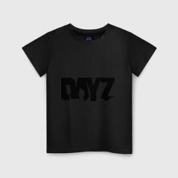 Футболка хлопковая детская DayZ цвета черный — фото 1