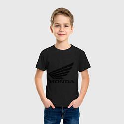 Футболка хлопковая детская Honda Motor цвета черный — фото 2