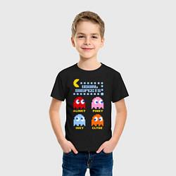 Футболка хлопковая детская Pac-Man: Usual Suspects цвета черный — фото 2