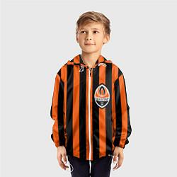 Ветровка с капюшоном детская ФК Шахтер Донецк цвета 3D-белый — фото 2