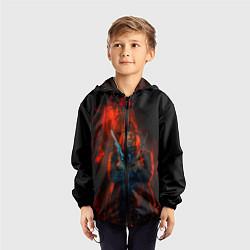 Ветровка с капюшоном детская Wild Guns цвета 3D-черный — фото 2
