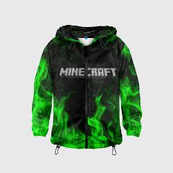 Ветровка с капюшоном детская MINECRAFT цвета 3D-черный — фото 1