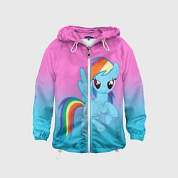 Ветровка с капюшоном детская My Little Pony цвета 3D-белый — фото 1