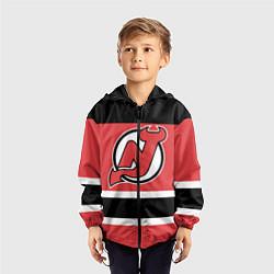 Ветровка с капюшоном детская New Jersey Devils цвета 3D-черный — фото 2