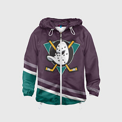 Ветровка с капюшоном детская Anaheim Ducks Selanne цвета 3D-белый — фото 1