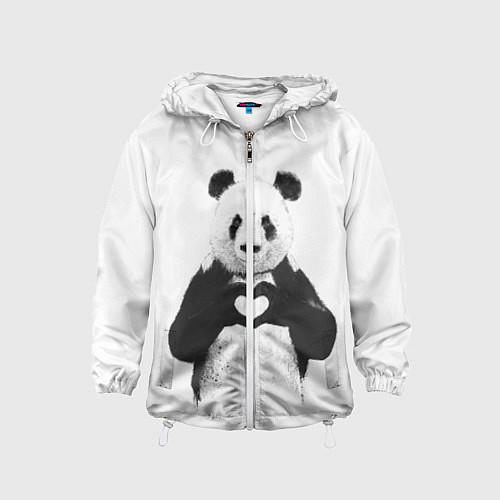Детская ветровка Panda Love / 3D-Белый – фото 1