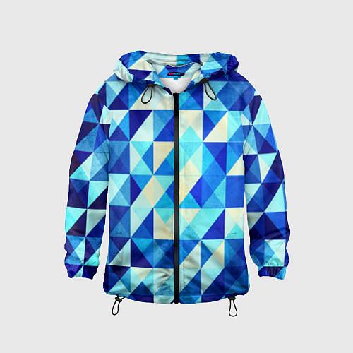 Детская ветровка Синяя геометрия / 3D-Черный – фото 1