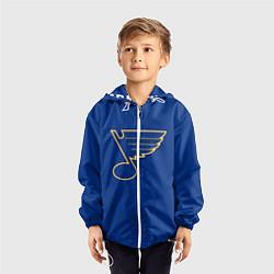 Ветровка с капюшоном детская St Louis Blues: Tarasenko 91 цвета 3D-белый — фото 2