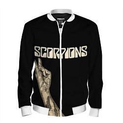 Бомбер мужской Scorpions Rock цвета 3D-белый — фото 1