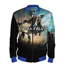 Бомбер мужской Titanfall Battle цвета 3D-синий — фото 1