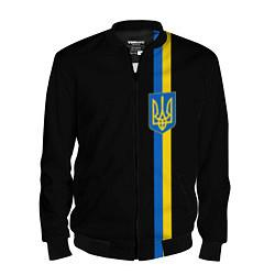 Бомбер мужской Украина цвета 3D-черный — фото 1