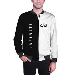 Бомбер мужской Infiniti: Black & White цвета 3D-черный — фото 2